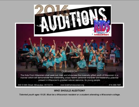 Audition booklet